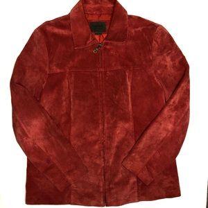 John Paul Richard Uniform Red Suede Jacket Size 12
